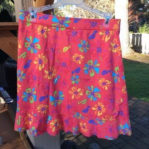 Fresh Produce stretch pink floral short skirt